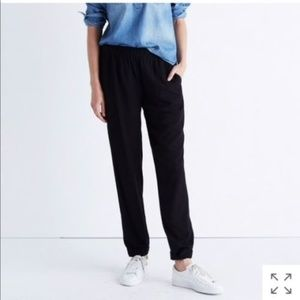 Madewell Black Track Trousers Casual Pants